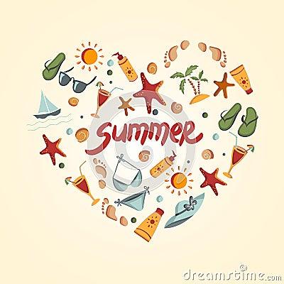 Summer elements for your design