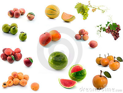 Summer and exotic fruits