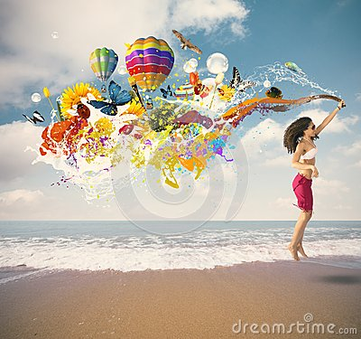 Free Summer Explosion Royalty Free Stock Images - 30834709