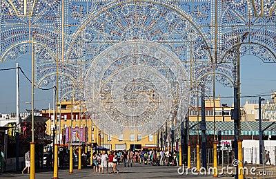 Summer fair in Algeciras, Spain Editorial Image