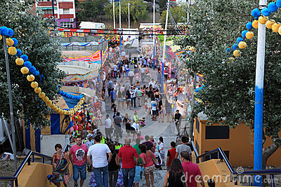 Summer fair in Algeciras, Spain Editorial Image