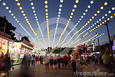 Summer fair of Algeciras, Spain Editorial Stock Image