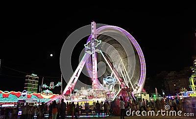 Summer fair of Algeciras, Spain Editorial Photo
