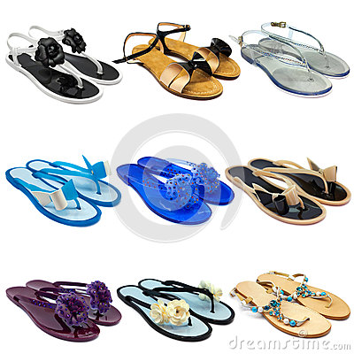 Free Summer Female Slippers Set-1 Stock Photography - 31009372