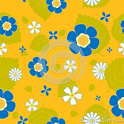 Summer flower seamless pattern.