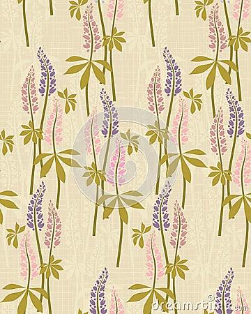 Summer flowers motif