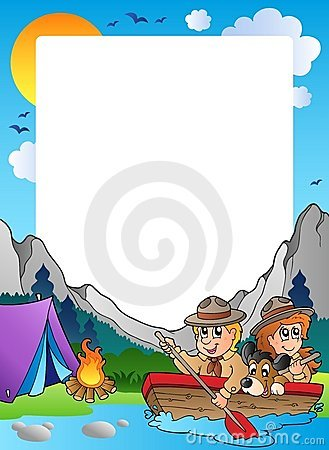 Summer frame with scout theme 4