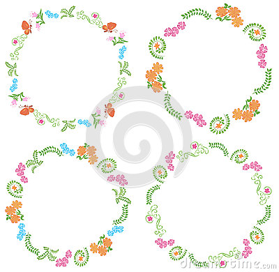 Summer frames with flora and fauna - vector
