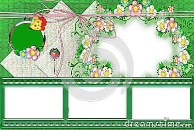 Summer framework with flowers