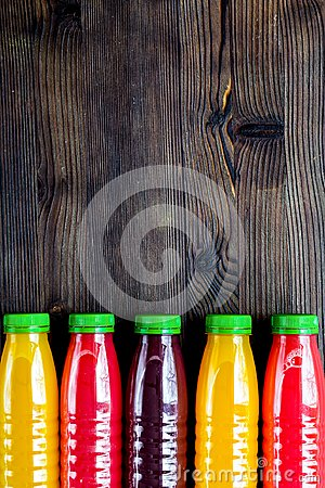 Free Summer Fresh Drink In Plastic Bottle On Wooden Background Top Vi Royalty Free Stock Images - 109354719