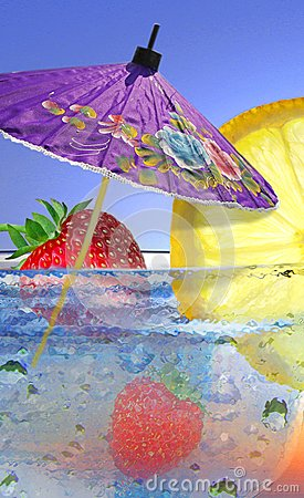 Free Summer Fruit Cocktail Royalty Free Stock Image - 103423956
