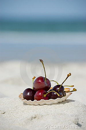 Summer fruits at the beach