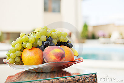 Summer fruits on table