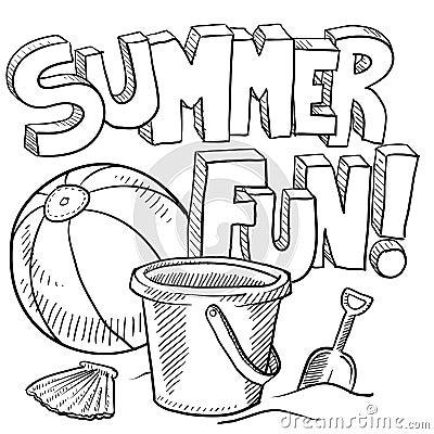 Summer fun at the beach vector