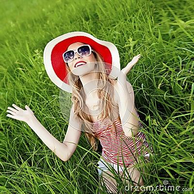 Summer fun girl