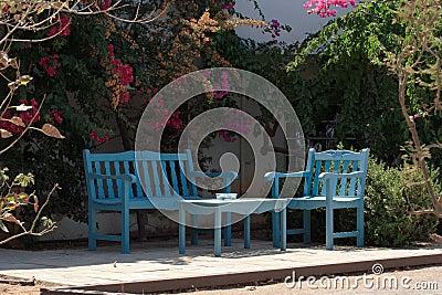 Summer garden furniture
