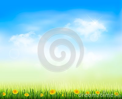 Summer gaze background with blue sky