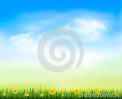 Summer gaze background with blue sky