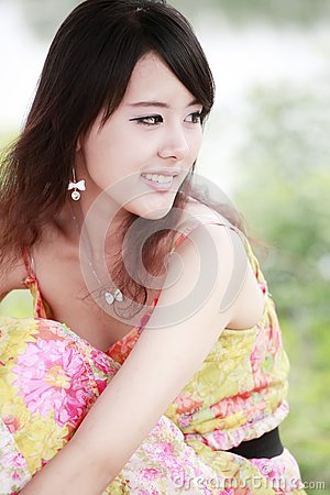 Summer girl outdoor portrait