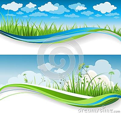 Free Summer Grass Banners Stock Photos - 18243353