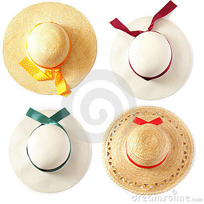 Free Summer Hat (hats) Royalty Free Stock Photography - 9028547