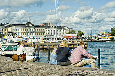 Summer in Helsinki Editorial Stock Image
