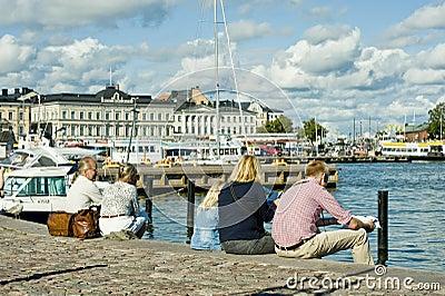 Summer in Helsinki Editorial Stock Image