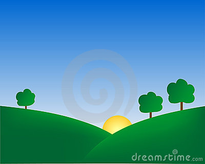 Summer Hills Background
