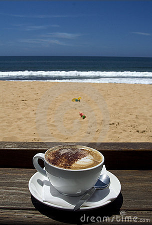Summer holiday coffee