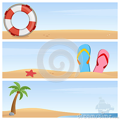 Summer Holiday Horizontal Banners