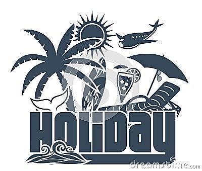 Summer holiday poster