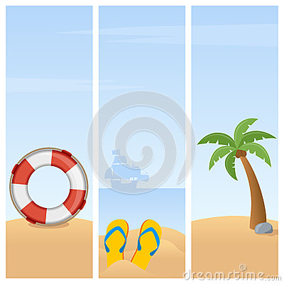 Summer Holiday Vertical Banners
