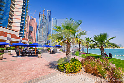 Summer holidays in Abu Dhabi, UAE Editorial Photography