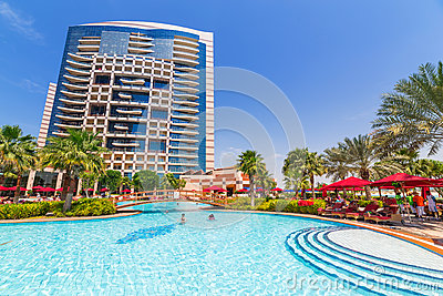 Summer holidays in Abu Dhabi, UAE Editorial Image