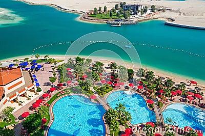 Summer holidays in Abu Dhabi, UAE Editorial Image