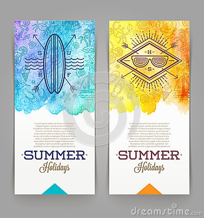 Free Summer Holidays And Travel Banners Stock Photography - 52842882