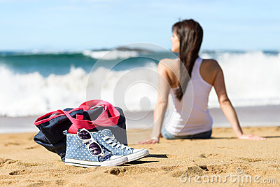Summer holidays on beach concept