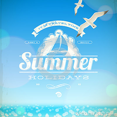Summer holidays  emblem