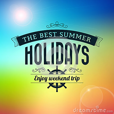 Summer holidays enjoy weekend trip typography poster