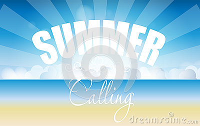 Summer holidays poster vector illustration