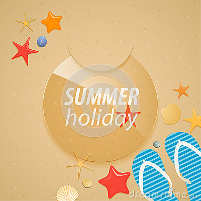 Summer holidays sticker.
