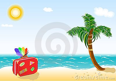 Summer holidays travel to tropical beach