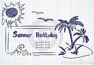 Summer holliday doodles