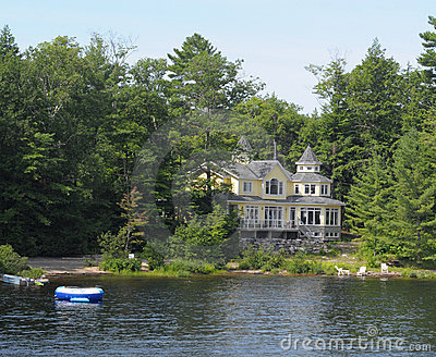 Summer home on a river