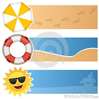 Summer Horizontal Banners