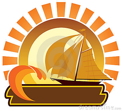 Summer icon - sailboat