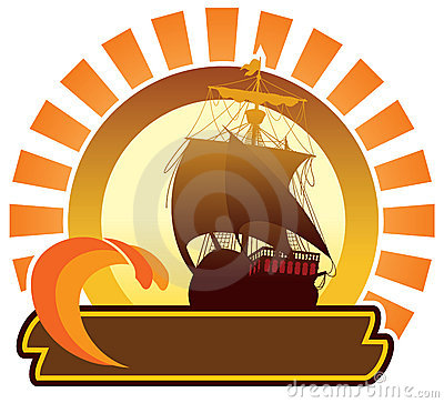 Summer icon - ship