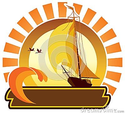 Summer icon - vessel
