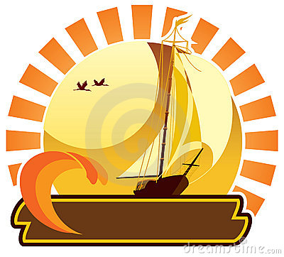 Summer icon - yacht
