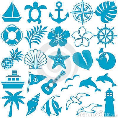 Free Summer Icons Stock Image - 19877091